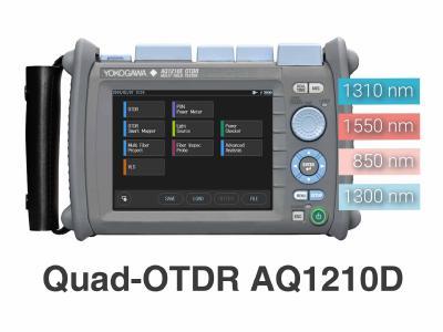 Das neue Quad-OTDR AQ1210D, ein 4-Wellenlängen-OTDR von Yokogawa.