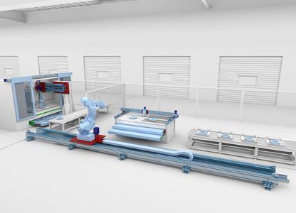 Mit einer Linearachse kann der Aktionsradius kleiner bis mittlerer Roboter sehr gut erweitert werden