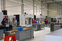 State-of-the-art CNC production at the new production site in Kaiserslautern/Germany