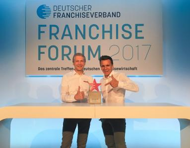 Die Gewinner des Franchise Awards - Stefan Jakob (li.) und Peter Knuth (re.)