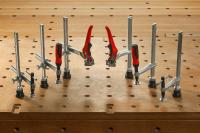 New from 1st April, 2017: BESSEY expends its workbench adapter range for the use of clamping elements