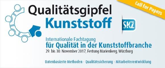 2. Qualitätsgipfel Kunststoff in Würzburg