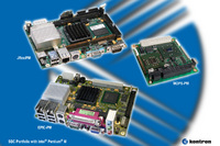 Kontron expands its single board computer portfolio with three fanless 600 MHz Intel® Pentium® M Designs