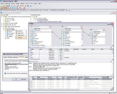 Zugriff auf unterschiedliche Vorsysteme mit integriertem SQL Query Builder