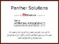 Award for Panther Solutions: Top 10 Artificial Intelligence Solution Provider in Europe