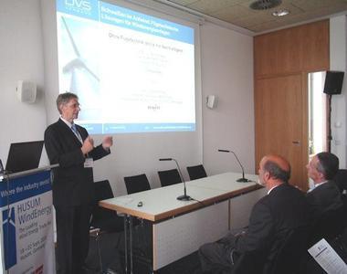 """Der DVS war auf der HUSUM WindEnergy mit der Vortragsreihe """"Schweißen im Aufwind: Fügetechnische Lösungen für Windenergieanlagen"""" vertreten, Foto: DVS"""