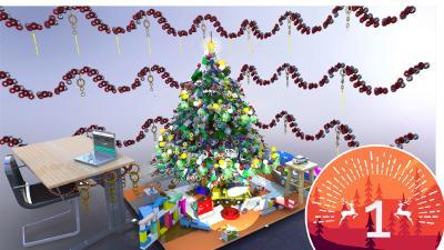TraceParts Weihnachtsbaum-Konstruktionswettbewerb - 1. Platz