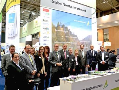 Starker Auftritt: Die Wirtschaftsförderung Nordschwarzwald GmbH (WFG) wirbt mit ihren Partnern für die Region als attraktiver Wirtschaftsstandort. Bildquelle: WFG Nordschwarzwald