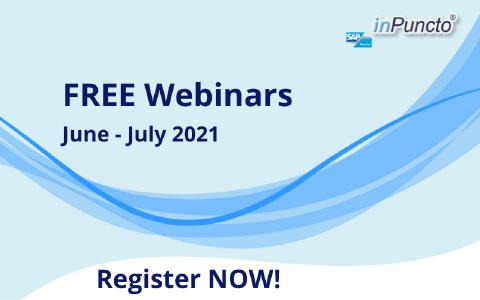 Free Webinars on SAP Solutions in June and July 2021