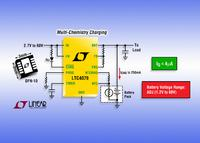 2.7V-60V Input, 250mA Linear Battery Charger Features Multi-Chemistry Operation