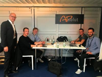 Von links nach rechts: Jürgen West, Frank Köppert, Christian Loof, Timo Zapatka, Gabriel Schroeder