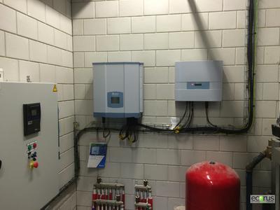 Delta RPI solar inverters installed in Middelkerke city building