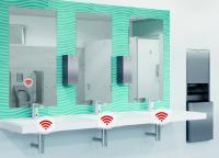 Elektronische Armaturen - einzeln oder vernetzt  - stellen abei die Balance zwischen Hygiene und Wirtschaftlichkeit her und sorgen für einwandfreie Trinkwasserhygiene.