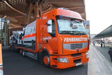 Der Renault Premium Route ist während der gesamten IAA als Sieger im Fehrenköttertest auf dem Messegelände ausgestellt