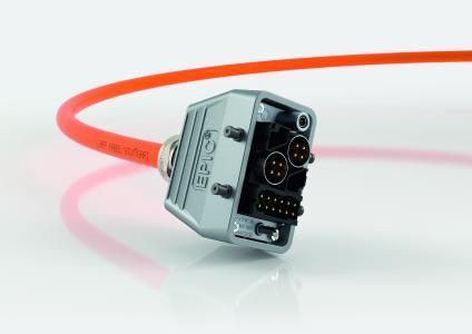 Allround-Talent: Das neue Rechtecksteckersystem EPIC® MH lässt sich mit wenigen Handgriffen mit verschiedenen Modulen für Leistung und Daten bestücken