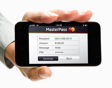 MasterPass-Log-in-Seite, auf der sich der Konsument als MasterPass-Inhaber authentisieren kann (Bildquelle: MasterCard)