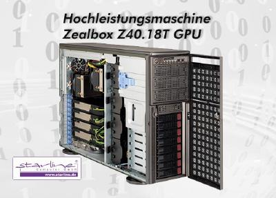 Ready for High Performance Computing: Der neue Zealbox-Server Z40.18T GPU von Starline