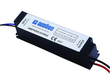 Neues von setron: LED-Treiber AMEPR25D-24100AZ von Aimtec mit Phasenanschnitt-/Phasenabschnitt-Dimmung