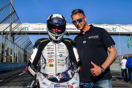 "Frank Hoffmann, Wunderlich managing director and team boss of Wunderlich MOTORSPORT (right) and Nate Kern (""N8!"") (left)"