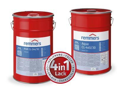 Aqua CL-445-Colorlack und PUR CL-244-Colorlack lassen sich im Innenbereich für die Beschichtung von Massivholz und Holzwerkstoffen einsetzen / Bildquelle: Remmers, Löningen