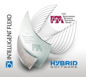 HYBRID Software Intelligent Flexo, a breakthrough module in HYBRID CLOUDFLOW to boost flexo print quality from existing equipment and software systems, has successfully received a 2021 FTA Technical Innovation Award