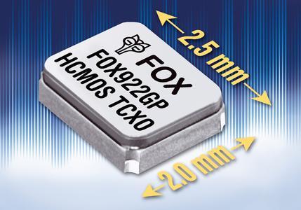 Neue Miniatur-TCXOs von FOX
