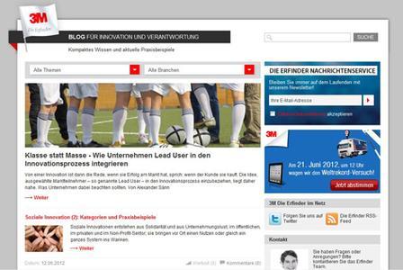 Neuer Auftritt des 3M Corporate Blogs für Innovation & Verantwortung