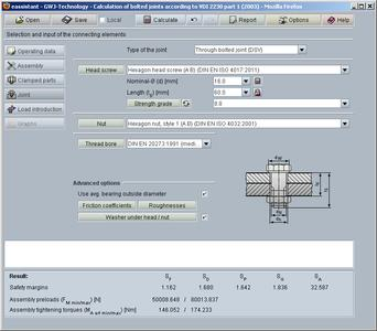 eAssistant calculation module according to VDI 2230