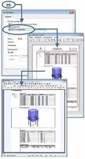 Die t2W-Technologie ermöglicht es, die Ausgaben sämtlicher Programme in VCmaster zu übernehmen