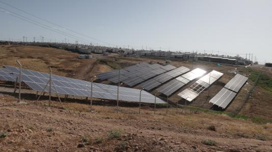Die Solaranlage im Camp Mam Rashan