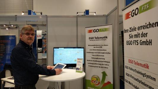 Norbert Walla, Geschäftsführer der EGO-FTS GmbH aus Beelen im Münsterland, ist das erste Mal als Aussteller auf der CeMAT. Bild: Telematik-Markt.de