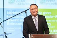 Andreas Schmidt, Vorstand der Bayerischen Börse AG, während seiner Rede auf der Jahreseröffnungsbörse 2020