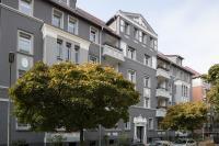Heute wieder ein Schmuckstück: Bei der Sanierung berücksichtigte die Braunschweiger Baugenossenschaft die historische Farbgebung des Gebäudes. (Foto: Caparol Farben Lacke Bautenschutz/Alexandra Lechner)