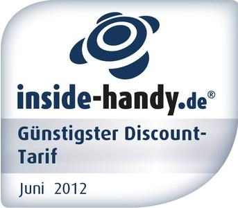 "Tarif-Award ""Günstigster Discount-Tarif"