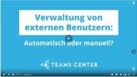 Verwaltung von externen Benutzern in MS Teams