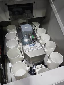DepotMini hier eingebaut in das Teilefach einer Citizen M16 Langdrehmaschine