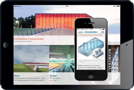 Ergänzend zur Smartphone-App gibt es die neuen Arbeitsblätter Feuerverzinken des Institutes Feuerverzinken ab sofort auch als App-Version für iPads und Android-Tablet-PCs