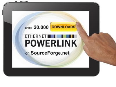 The POWERLINK software stack for master and slave nodes has been downloaded 20,000 times since it was first published as open source software