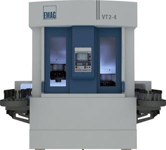 Die VT 2-4 ist eine 4-achsige Wellendrehmaschine für Wellen bis 400 mm Länge und 100 mm Durchmesser