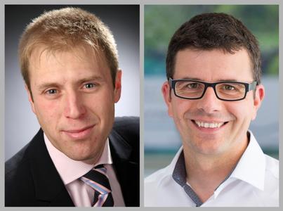 Die neuen IBZ-Sprecher Markus Staudt (links) und Alexander Dauensteiner (rechts) stehen einem Konsortium von 13 Mitgliedern vor / Bild: IBZ