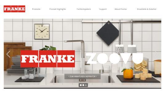 FRANKE Home Solutions entscheidet sich für Zoovu und hilft Kunden bei der schnellen und einfachen Suche nach der perfekten Armatur