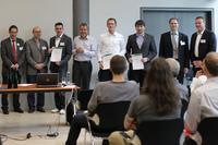 v.l.n.r: Prof. Dr. Andreas Oberweis (KIT), Dr. Michael Ranft (SWR), Bastian Karweg, Matthias Grund (andrena), Benjamin Klatt, Tobias Wüchner, Prof. Dr. Reußner (FZI), Hagen Buchwald (andrena)