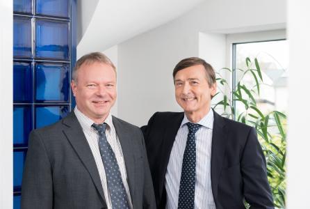Peter Loibl und Peter Stürmann, Geschäftsführer der von zur Mühlen'sche GmbH