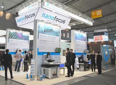 Die NanoFocus AG präsentierte dem interessierten Fachpublikum am Messestand Innovationen im Bereich der optischen 3D-Oberflächenmesstechnik.