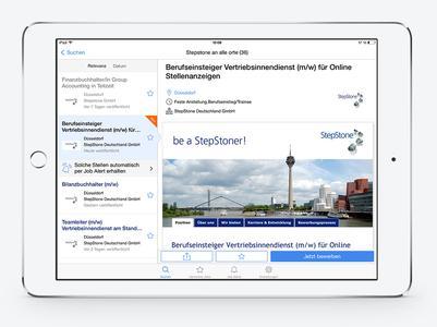 StepStone Tablet App 03