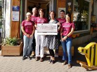 Spendenübergabe an  Magdeburger Verein Spielwagen  e.V.