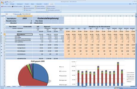 Integriertes Excel-Planungsformular