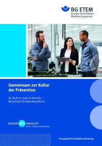 Viele Mitarbeiter wollen, dass mehr für Sicherheit und Gesundheit getan wird - neue Broschüre für Führungskräfte