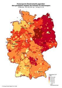 Karte: Preisersparnis Ökostrom ohne Gütesiegel