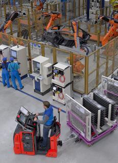 H2 Intradrive Wasserstoff Routenzugschlepper in der BMW i Produktion